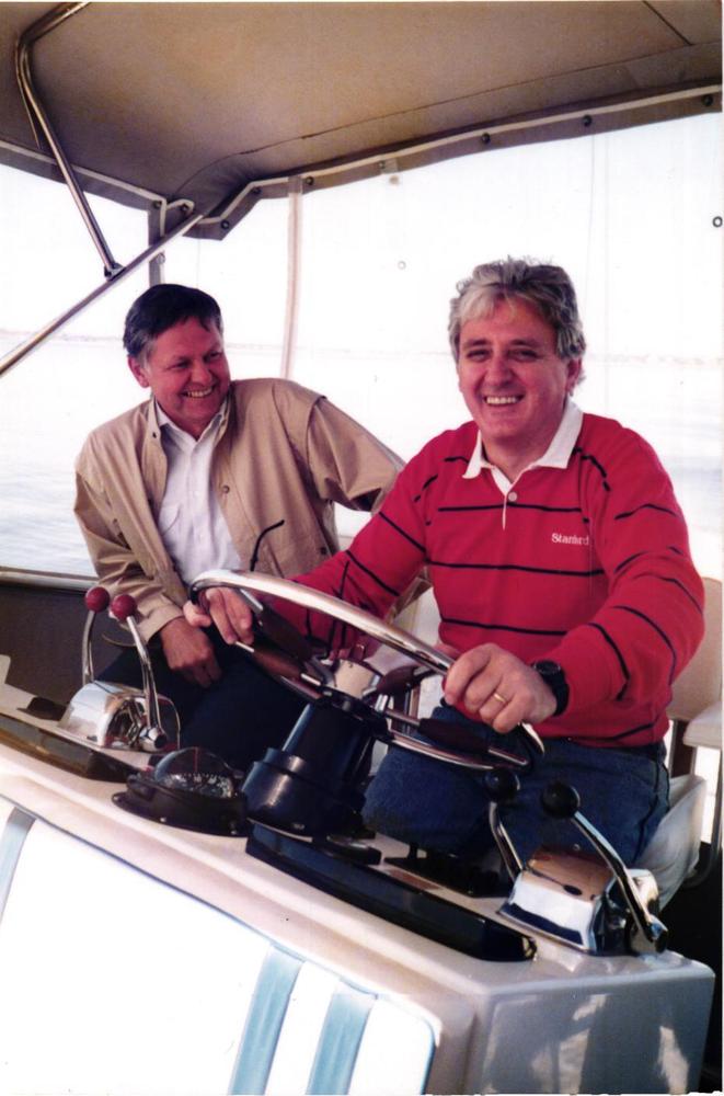 Obrázek 15: Na lodi na řece Swan