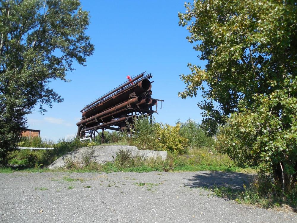 Obrázek 17: Zbytek potrubí vysokopecního plynu na Žofinskou huť