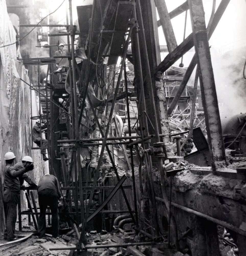 Obrázek 27: Koksovna po havárii turbovny 26. 7. 1989