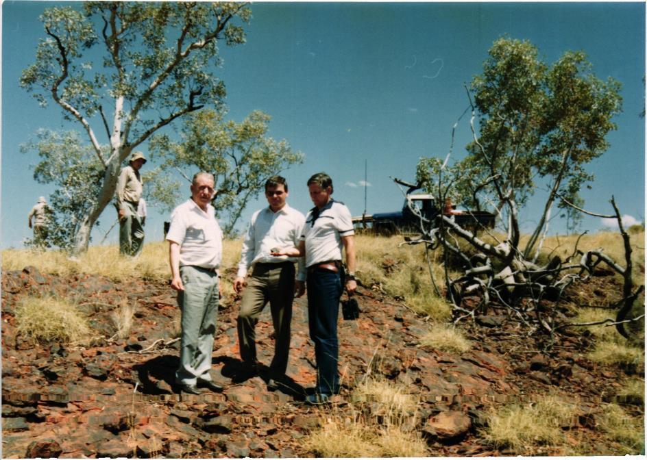 Obrázek 4: Witenoom skree; stojíme na železné rudě